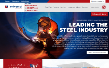 Universal Steel America website