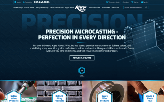 Kapp Alloy & Wire, Inc. website