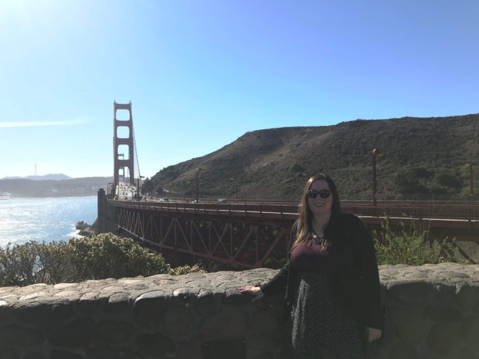 Courtney at the Golden Gate Bridge